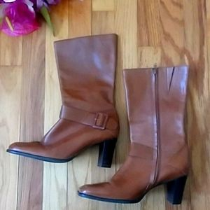 VINTAGE Antonio Melani Tony Square Toe Boots 7.5